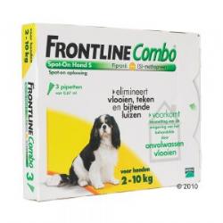Frontline Combo Spot-On Hond S 2-10 kg 3 pipetten