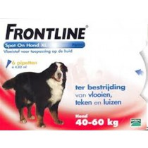 Frontline Spot-On Hond XL 40-60 KG 6 pipetten