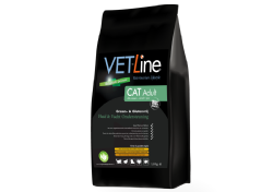 Vet-Line Cat Adult Huid&Vacht Ondersteuning - Graan&Glutenvrij  4 KG