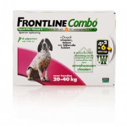 Frontline Combo Spot-On Hond L 20-40 KG 6 pipetten