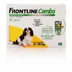 Frontline Combo Spot-On Hond S 2-10 KG 6 pipetten