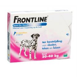 Frontline Spot-On Hond L 20-40 kg 6 pipetten