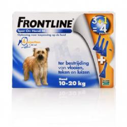 Frontline Spot-On Hond M 10-20 KG 6 pipetten