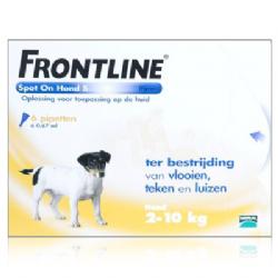 Frontline Spot-On Hond S 2-10 KG  6 pipetten